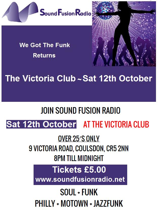 Victoria Club Flyer October