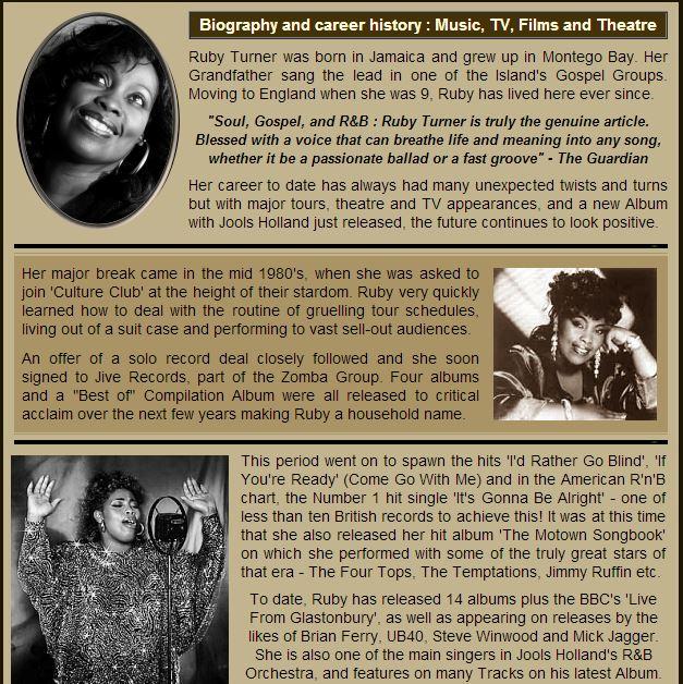 Ruby Turner bio