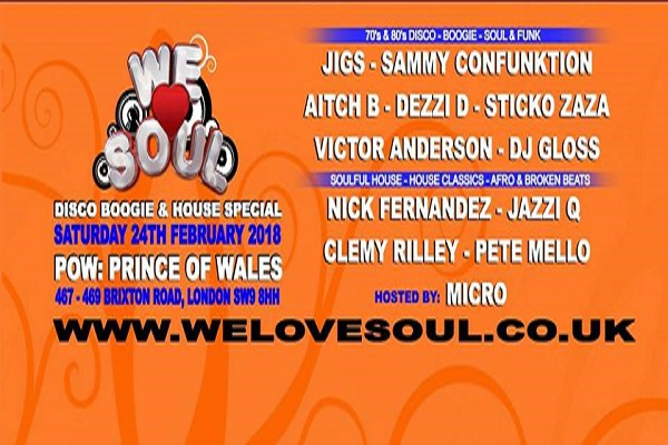 We Love Soul at the Prince of Wales Brixton
