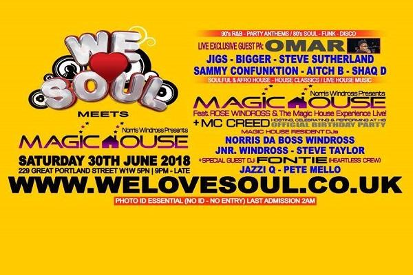 We Love Soul - Saturday 30th June 2018
